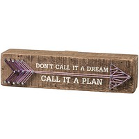 Don't Call It A Dream, Call It A Plan String Art Decor