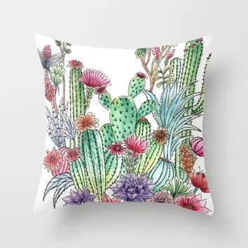 Cactus garden Art Print by Juliagrifol Designs