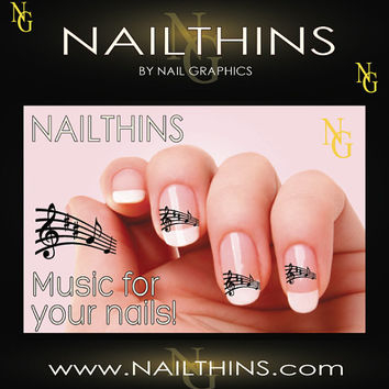Music Notes Nail Decal Design Set No.1 NAILTHINS Nail Art
