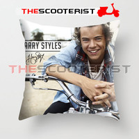 "Harry Style Sweet Smile - Pillow Cover 18"" x 18"" - One Side"