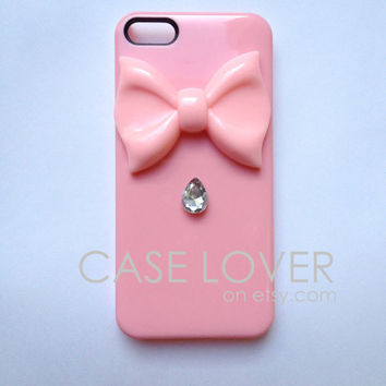 Light Pink with Jewel Couture iPhone 5 iPhone 4 4S Case
