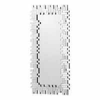 Puzzled Rectangular Mirror Clear