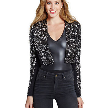 Guess Rayna Sequined Crop Jacket