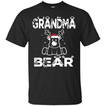 Grandma Bear Christmas Family Gift Funny T-shirt