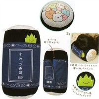San-X Sumikko Gurashi ''Things in the Corner'' Sushi House 12.6'' Plushy Sushi Roll Pillow