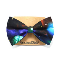 Galaxy Print Hair Bow Barrette