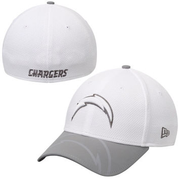 San Diego Chargers New Era Series Gunner Two-Tone 39THIRTY Flex Hat – White