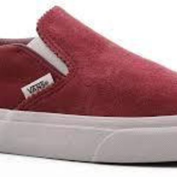 Vans Classic Slip On(Pinked Suede)Apple Butr