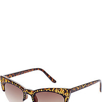 BetseyJohnson.com - EXTREME CATEYE WITH STONES BLACK