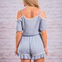 The Sightseeing Romper, Sky Blue
