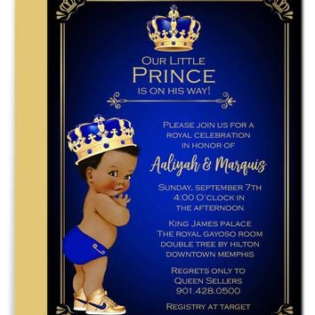 Prince Baby Shower Invitations