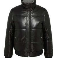 HUDSON LEATHER ZIP UP POLYFILL JACKET