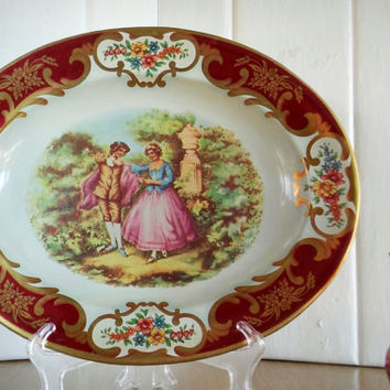 Daher Decorated Ware Victorian Courting Couple, Victorian Love Story Serving Tray Décor, Shabby Chic Romantic Home Décor