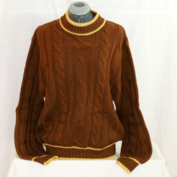 Vintage Wool Cable Knit Loch Leisure Sweater-Monterey Knitting Mills Sweater