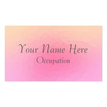 Pretty In Pink Hammered Metal Effect Business Card