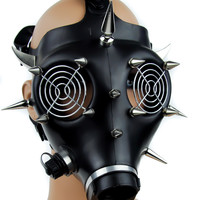 Cyber Industrial Full Gas Mask with Spikes