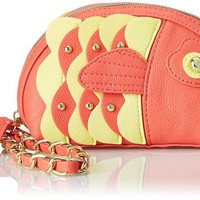 Betsey Johnson Fish Wristlet Clutch