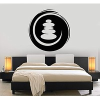 Vinyl Wall Decal Circle Enso Zen Spa Salon Buddhism Stickers Unique Gift (ig4135)
