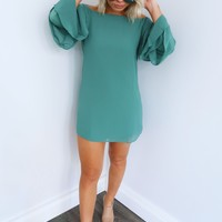 The Right Look Dress: Dusty Turquoise