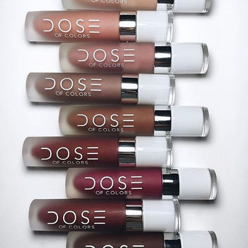 Dose of colors lipstick lip gloss SOC Matte Lip lipstick DOSE - 12 colours
