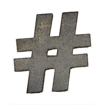 Galvanized Hashtag Wall Decor - 26""