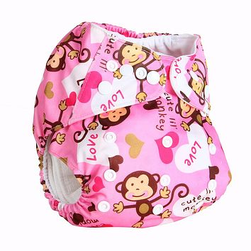 Baby Washable Cloth Diaper Microfiber Insert Baby Diapers Reusable Cloth Nappy Suit