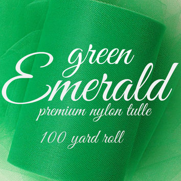 EMERALD GREEN - Premium Nylon Tulle - 100 yard rolls - other colors also available