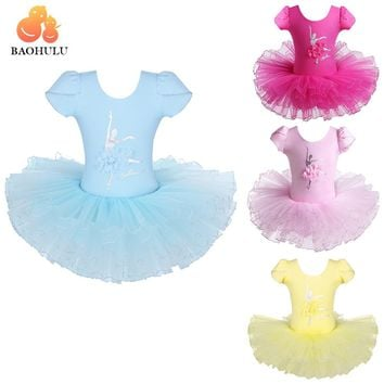 BAOHULU Girls Ballet Dress Tutu Dancewear Leotard Girl Dance Dress tutu Costumes Kids Dancer Ballet Clothing For Ballerina