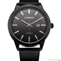 Curren Leather Men's Wrist Watch