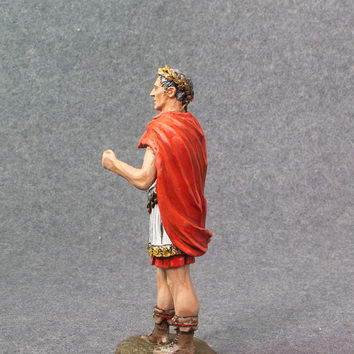 Toy Soldiers Gaius Julius Caesar 1/32 Scale 54mm Hand Painted Tin Metal Miniature Sculpture Antique Action Figurine - Free Shipping