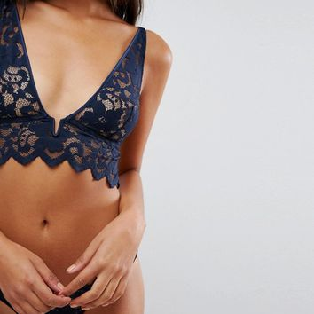 Mimi Holliday Buckaroo Longline Bra at asos.com