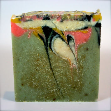 Goats Milk Soap- Cucumber Melon- Cold Process Soap, GoatsMilk, Bar Soap, Handmade Soap, Hemp Soap, Unisex Soap