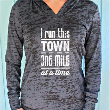 I Run This Town Running Burnout Hoodie