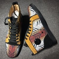 Cl Christian Louboutin Suede Mid Strass Style #2230 Sneakers Fashion Shoes