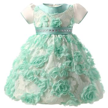 Fariy Flower Toddler Girl Baptism Dress For Baby Girl 1 Year Birthday Beautiful Christening Dress In