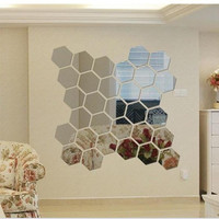 Mirror Environmental Acrylic Crystal Wall Sticker [6283186438]
