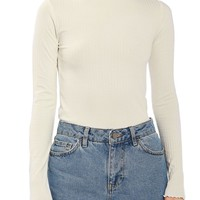 Topshop Boutique Funnel Rib Sweater | Nordstrom