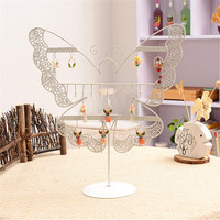 Hot Sell Dangle Earrings Display Rack Jewelry Stands Holder Butterfly Shaped Black Jewelry Earring Cases&Display