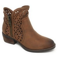 Not Rated Etta Tan Cut-Out Ankle Booties