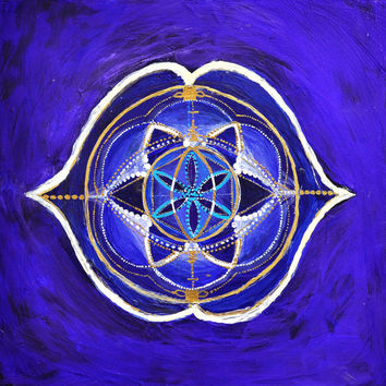 Third Eye Chakra Print ~ Original Painting ~ Yoga ~ Psychedelic ~ Sacred Geometry ~ Mandala ~ Decor ~