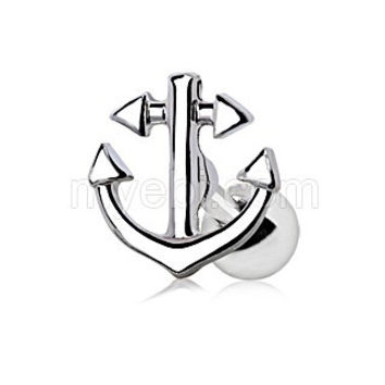 316L Stainless Steel Nautical Anchor Cartilage Earring