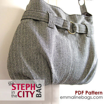 Steph In The City Bag PDF Sewing Pattern  Purse by EmmalineBags