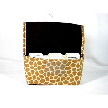 Coupon Organizer Giraffe Animal Print