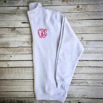 Monogram Quarter Zip, Monogram Sweatshirt, Monogram Quarter Zip Pullover, Charles River Sweatshirt, Christmas gifts