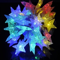 4M 40 LED Battery Powered Fairy string light,Five-pointed Star String Lights for Chrismas, Party, Wedding, New Year, Garden Décor (Multi-color)