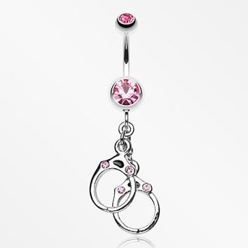 Handcuff Sparkle Belly Ring