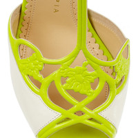 Charlotte Olympia | Tiffany neon leather sandals  | NET-A-PORTER.COM