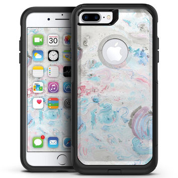 Marbleized Pink and Blue Blotch - iPhone 7 or 7 Plus Commuter Case Skin Kit