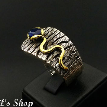 Ring Bague Anillo Special Design Jewelry 925 Sterling by IdilsShop