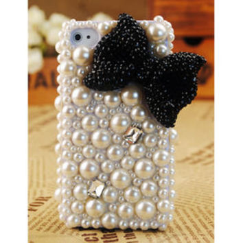 Gullei Trustmart : Apple iPhone4 3GS Pearl Bow Case Cover [GTMSP0027] - $44.00-Couple Gifts, Unique USB Gadgets, Best iPad/iPod/iPhone Covers & Home Decor